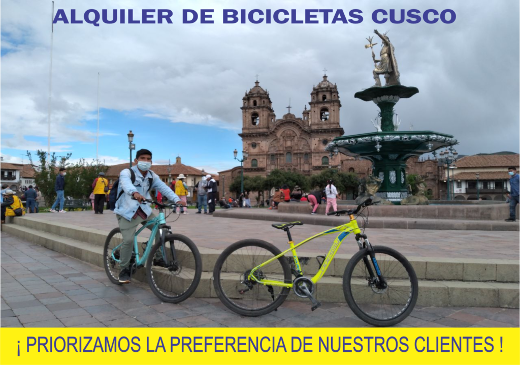 Alquiler de Bicicletas Cusco Delivery Hotel Domicilio